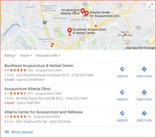 Acupuncture Rankings